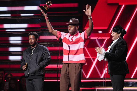 Tyler, The Creator neemt zijn award in ontvangst