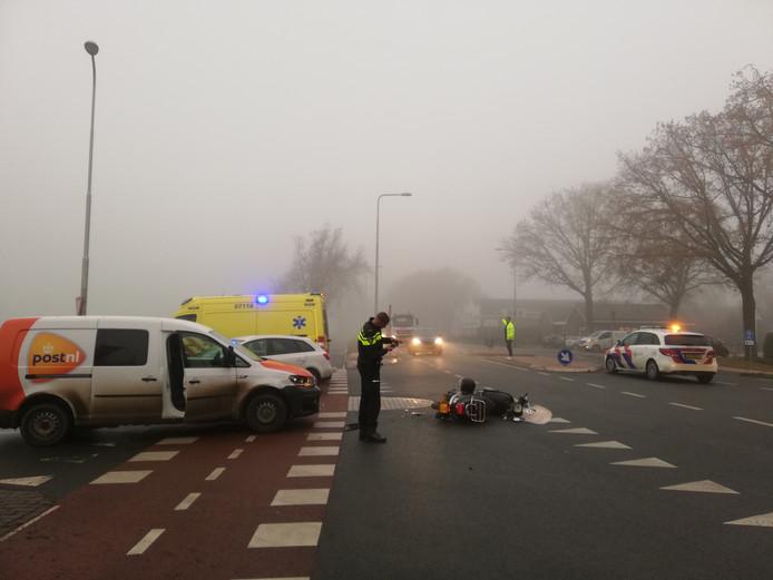 Een meisje is gewond geraakt in Ede bij een ongeluk op de Rijksweg.