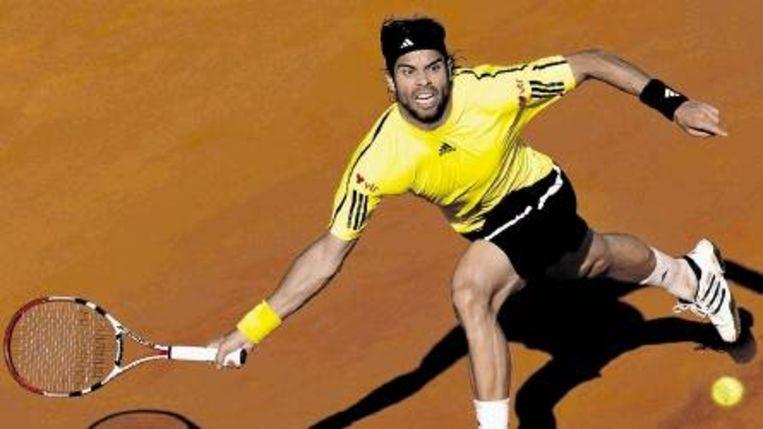 Fernando Gonzalez op Roland Garros 2009 (Trouw) Beeld