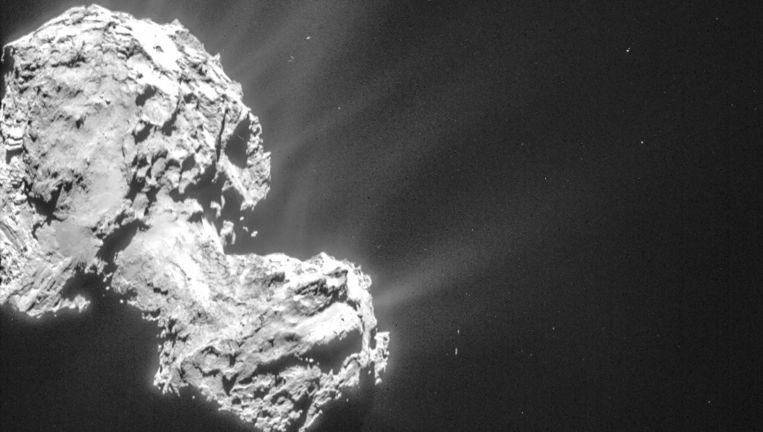 Komeet 67P/Churyumov-Gerasimenko. Beeld NavCam