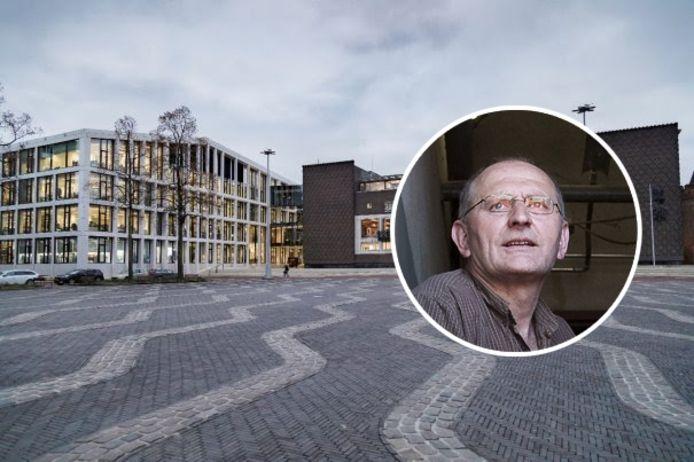 Martin Thus. Op de achtergrond het provinciehuis van Gelderland in Arnhem.