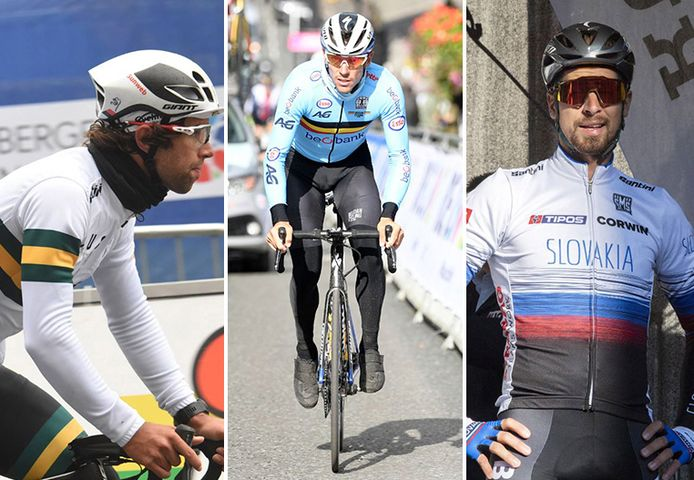 Michael Matthews, Philippe Gilbert en Peter Sagan.