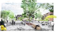 Bouwvergunning voor het voorplein Tir en 36 nieuwe sociale woningen