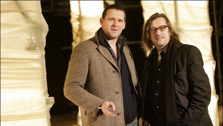 Johan Doesburg (rechts) met Mark Rietman in 2006. Beeld anp