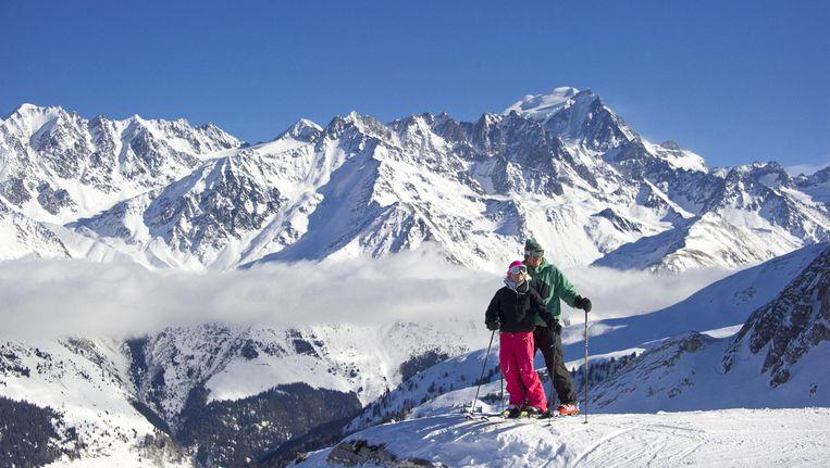 De Grand Combin in Zwitserland. De top ligt op 4.314 meter hoogte.