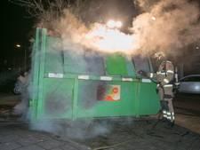 Raam ingegooid en container in brand in Arnhemse wijk Malburgen