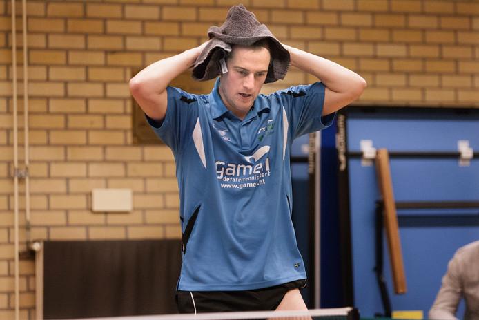 Voor Hercules won Jurgen Pastoors een enkelspel en met Jelle Bosman ook het dubbel.