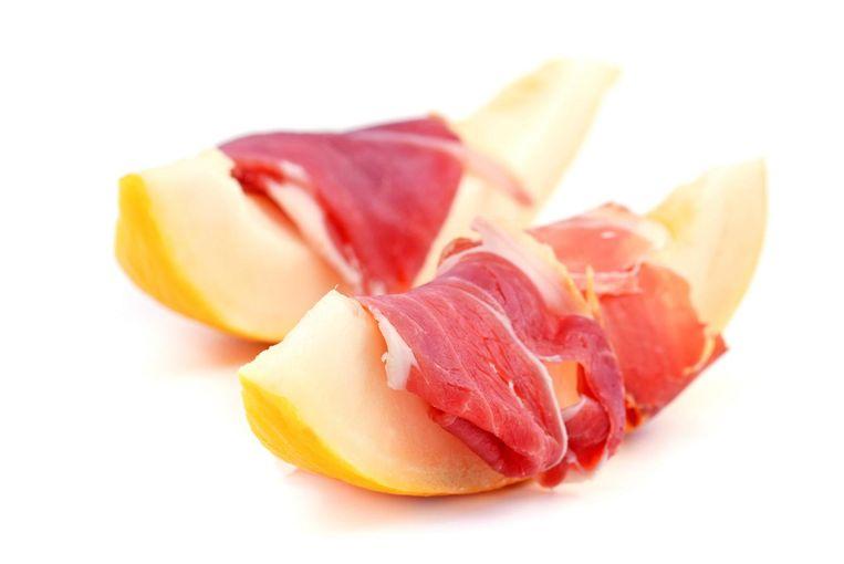 Ham en meloen Beeld Shutterstock