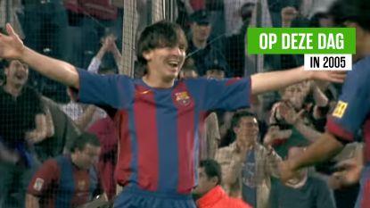 Het begin van een wonderbaarlijk sprookje: de heerlijke eerste goal van Messi voor Barça (en zelfs assist was symbolisch)