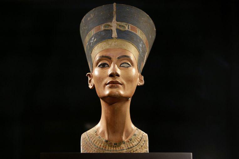 De beroemde buste van Nefertiti Beeld epa