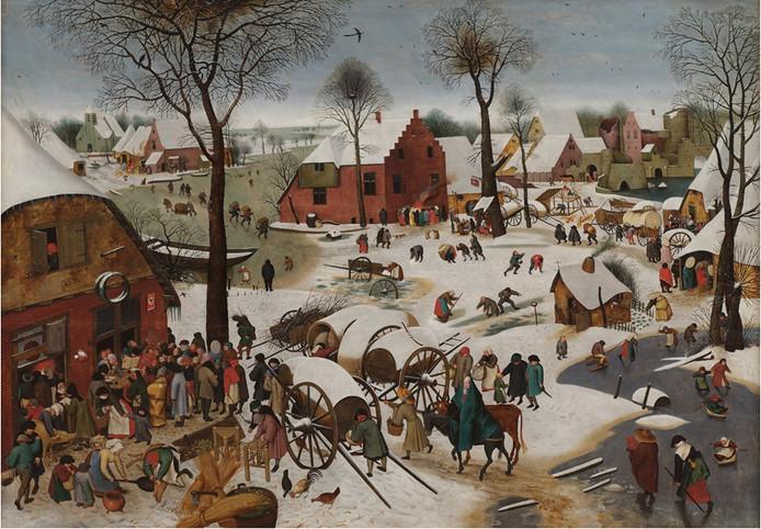 Volkstelling te Betlehem door Pieter Bruegel de Oude.