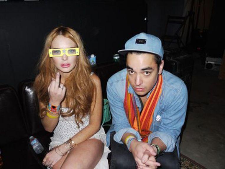Lindsay Lohan met haar assistent Gavin Doyle in betere tijden.