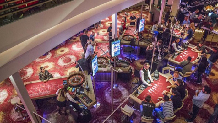 De speeltafels van Holland Casino West
