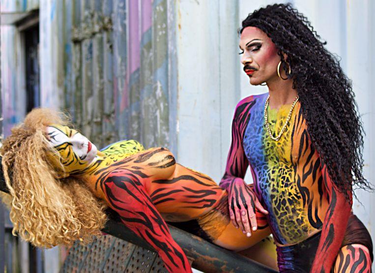 Stichting Amsterdam Body Art organiseert voor de vierde keer het Bodypaint Art Event. Beeld Lydia Faber