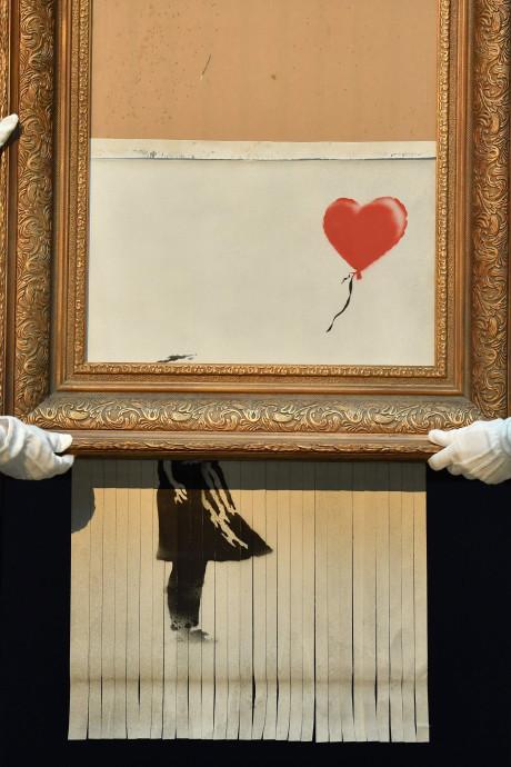 Banksy wilde kunstwerk volledig versnipperen