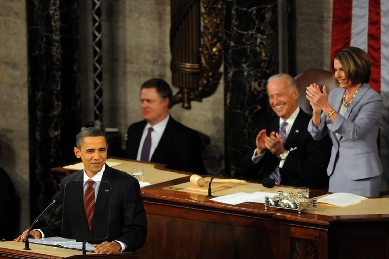 President Obama tijdens zijn State of the Union (EPA) Beeld null