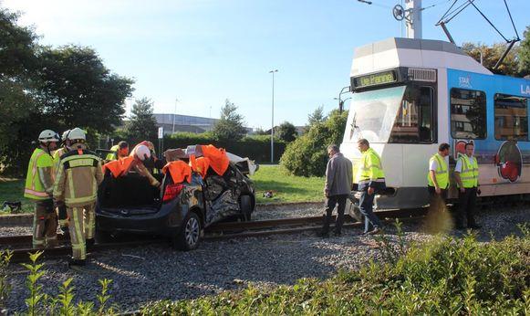 Het ongeval gebeurde in de buurt van de tramhalte Oostende Weg Naar Vismijn.