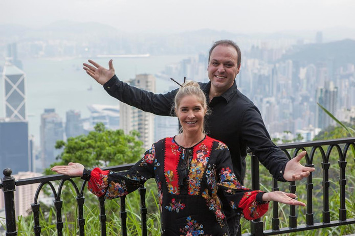 Frans en Mariska in China.