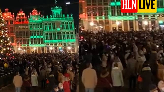 """""""Als dit een voorbode van de eindejaarsperiode is, zullen we ons moeten aanpassen"""": kerstboom en lichtspel doen ook Grote Markt Brussel vollopen"""