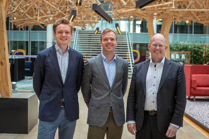Peter Paul van Voorst tot Voorst (oprichter en CEO Skoon Energy), mede-oprichter Daan Geldermans en Kees Koolen.