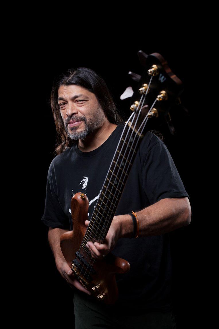 Robert Trujillo, sinds 2003 bassist bij Metallica, in 2016.  Beeld Redferns