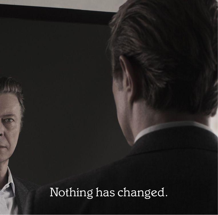 Deze drie foto's verschenen op de website van David Bowie na de aankondiging van zijn verzamelalbum. 2/3 Beeld