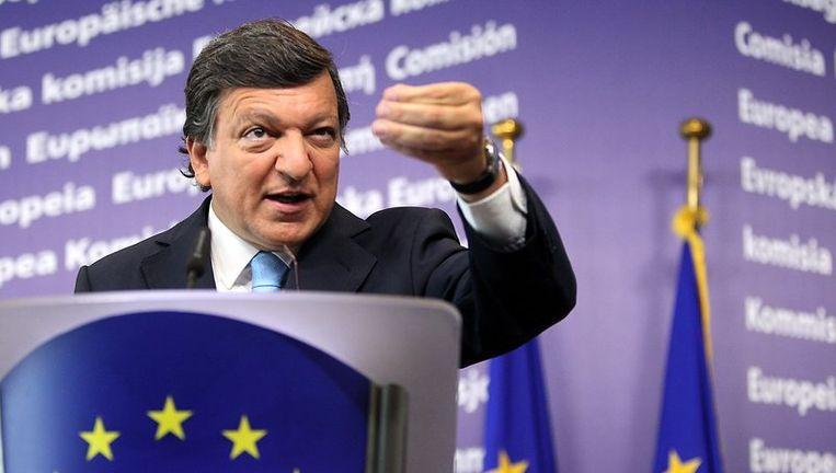 Barroso was in een uitputtende reeks hoorzittingen vol vuur over zijn plannen, assertief en soms zelfs agressief tegen critici, en maakte een kwinkslag op zijn tijd. Foto EPA Beeld