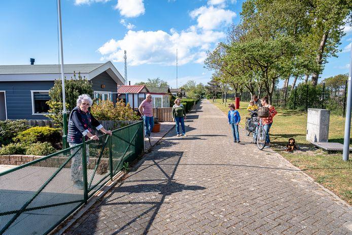 Recreatiehuisjes in Hoek van Holland.