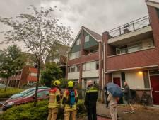 Bliksem slaat in woningen in Papendrecht