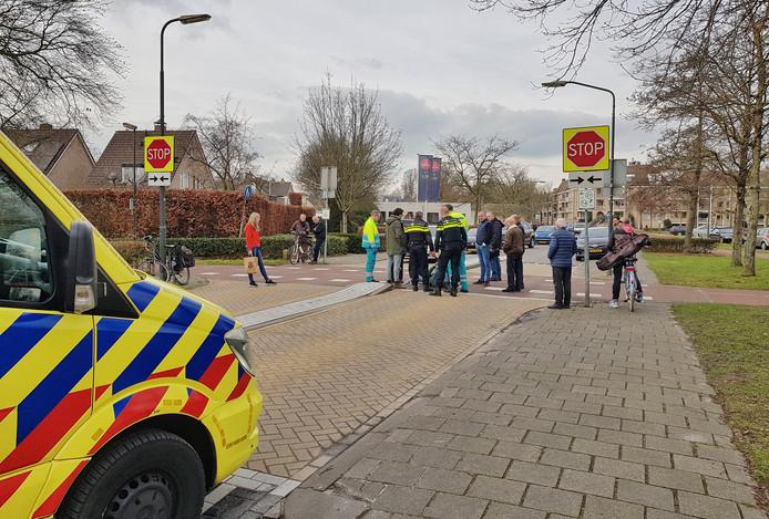 Ongeluk met fietster en automobilist op de Baerdijk in Oisterwijk.