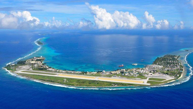 Het Kwajalein-atol maakt deel uit van de Marshalleilanden. Beeld ap