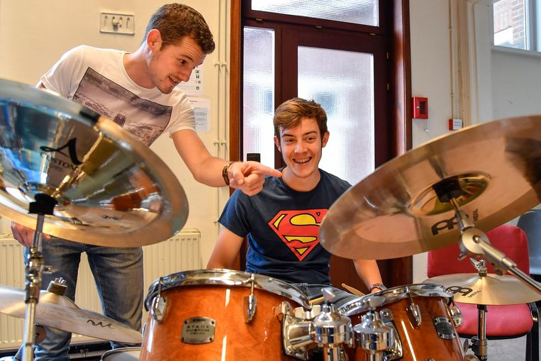Voor drum en slagwerk kan je nu al terecht in de Academie. Vanaf volgend schooljaar breidt het aanbod instrumenten uit.