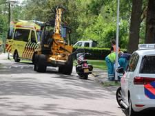 Motorrijder gewond bij aanrijding met bosmaaier