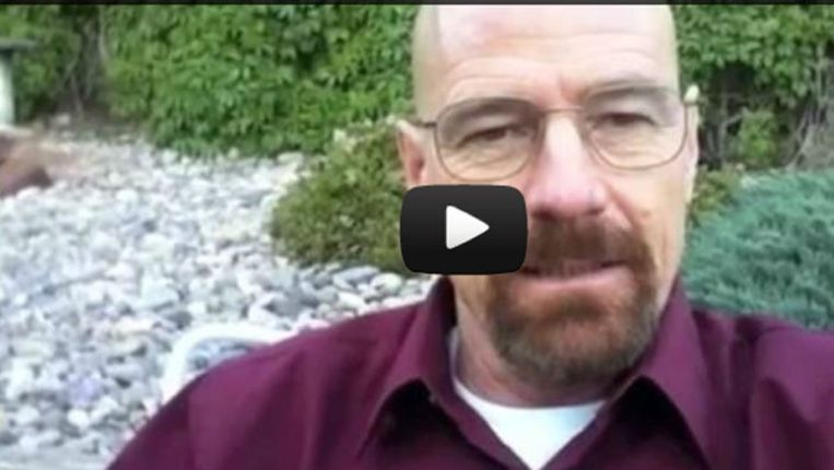 Walter White 'strongly suggests to vote for Maxwell Ulin' Beeld Screenshot YouTube