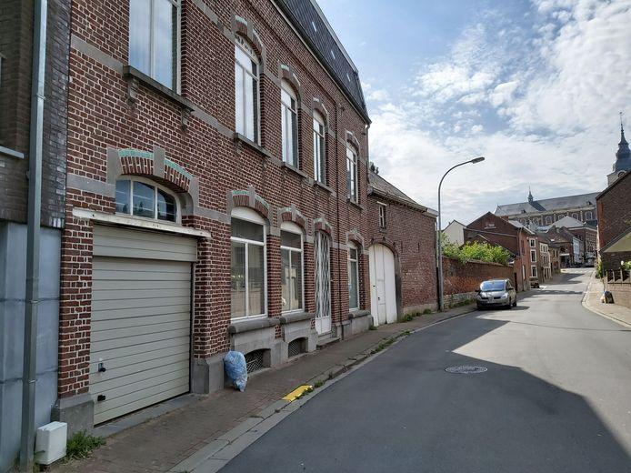 Het betrokken pand in Gasthuisstraat 11 in Hoegaarden.