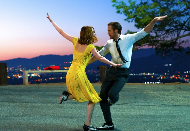 Ryan Gosling en Emma Stone in 'La La Land'.
