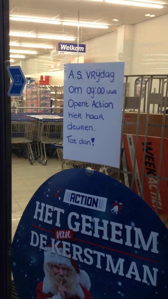 De Action in de Kerverij in Valkenswaard gaat vrijdag open
