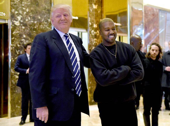Kanye West avec Donald Trump en 2016.