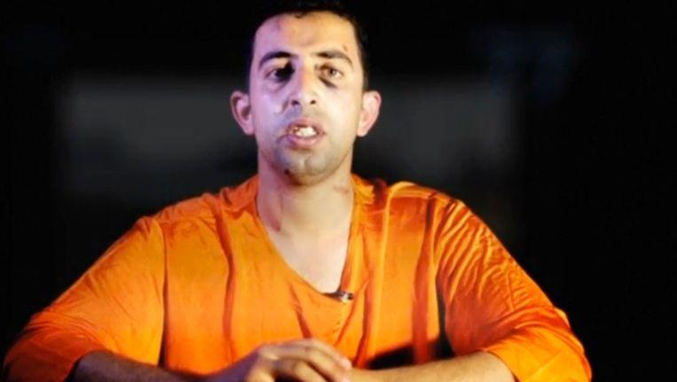 De Jordaanse piloot Moaz al-Kasasbeh, van wiens dood gisteren een video werd verspreid.