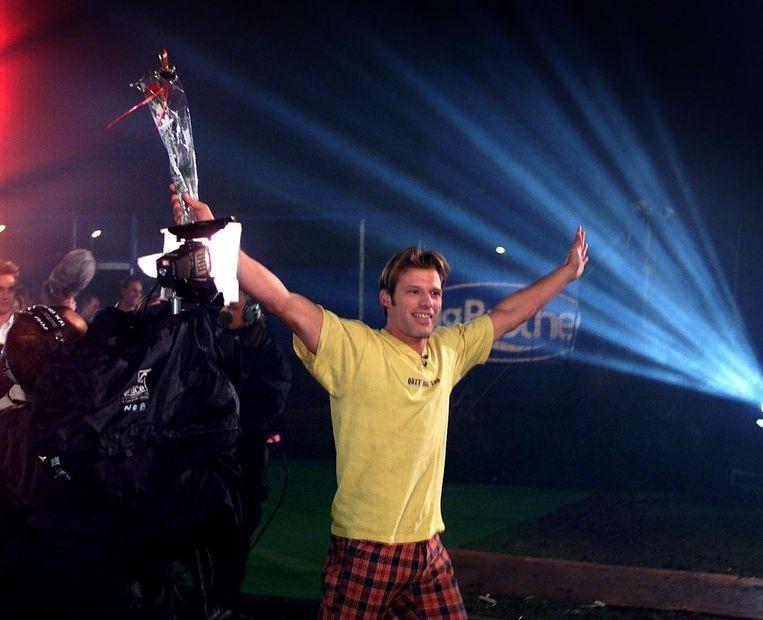 Bart kwam op oudjaarsdag 1999 als winnaar uit het Big Brother-huis in Almere. Beeld ANP