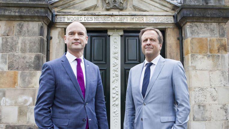 Gert-Jan Segers en Alexander Pechtold. Beeld Maarten Hartman