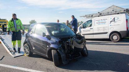 Twee lichtgewonden bij frontale botsing op N442 in Wichelen