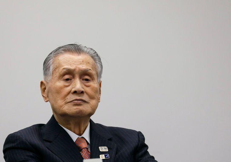 Yoshiro Mori, voorzitter van het Japanse organisatiecomité.