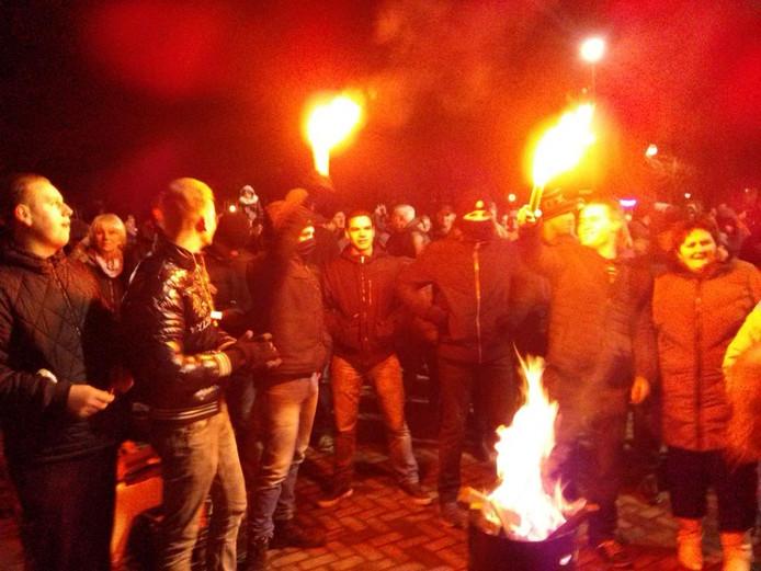 De demonstratie in Heesch liep maandag uit de hand