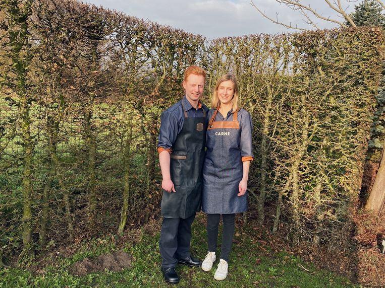 De jonge ondernemers Arne Haverbeke (24) en Haynee Van Hoornweder (23)