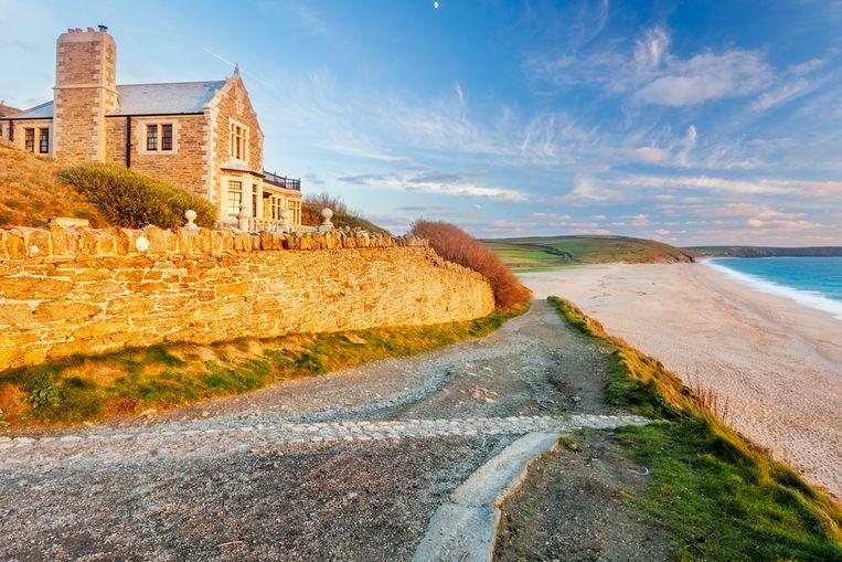 Loe Bar, een deel van het enorme landgoed Penrose in Cornwall.
