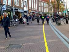 Rechts houden van de gele streep in Middelburg