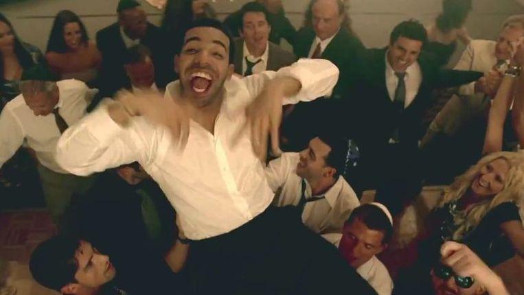 Rapper Drake in de videoclip voor zijn nummer HYFR Beeld