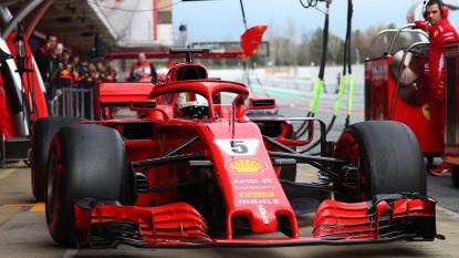 Vettel geeft gas met 'Loria'