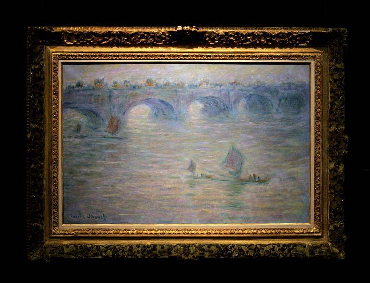 Claude Monet schilderde de oude Waterloo Bridge. Beeld afp